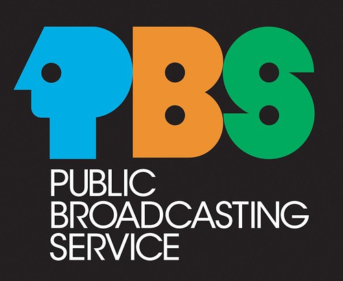 old pbs - public broadcasting service logo