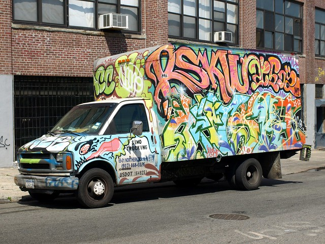 Graffiti Truck, Hunts Point, South Bronx NYC | Flickr ...