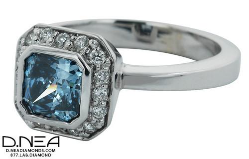 Lab Created Emerald And Diamond Ring