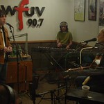 Aimee Mann and band in Studio A