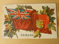 old canada flag postcard