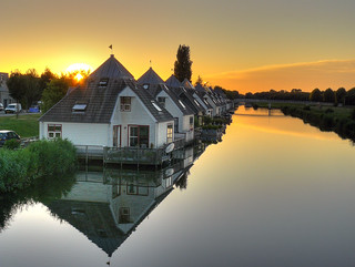 Beautiful houses in Almere