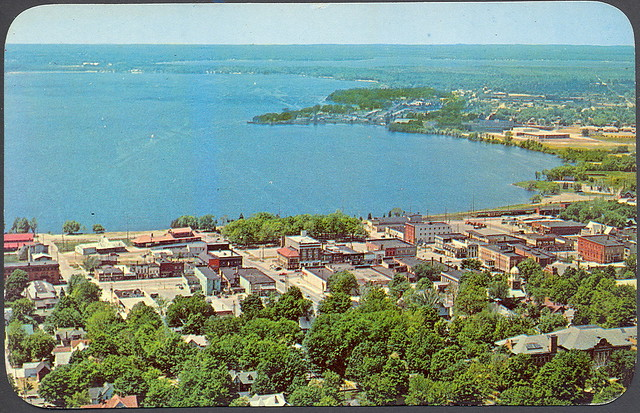 Wexford Cadillac Mi Aerial Downtown View Looking West Over