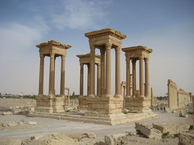 El TETRAPILON - Palmira (Siria)