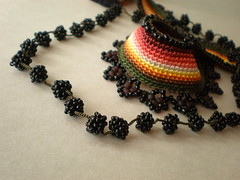 Vitis ... Freeform Crochet Necklace