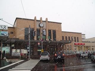 初雪中的小樽