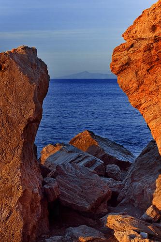 light mountains water colors sunrise turkey island rocks sony may vivid ile kos greece mai 2008 grece grecja a700 abigfave dslra700