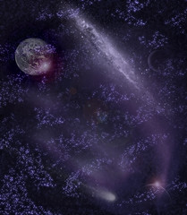 spiral galaxy(0.0), astronomy(1.0), universe(1.0), milky way(1.0), space(1.0), star(1.0), nebula(1.0), galaxy(1.0), midnight(1.0), astronomical object(1.0), outer space(1.0),