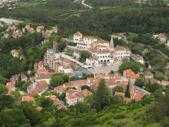 Arial views of Sintra by flickr user rinzewind