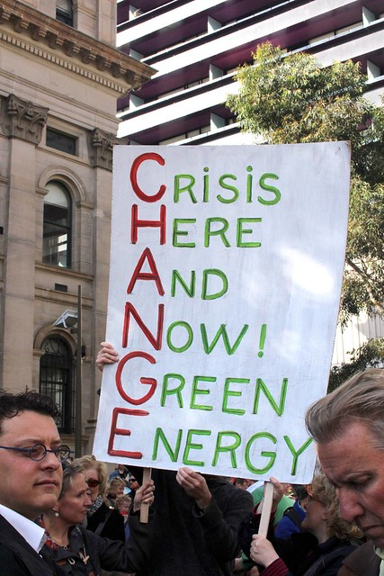 Crisis Hear and Now! Green Energy - Melbourne World Environment Day 2011 from Flickr via Wylio