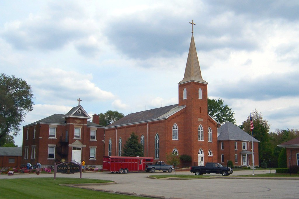 St. Maurice Catholic Church and School, Napoleon, Indiana