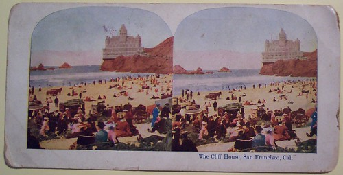 "The Cliff House Vintage View Card ""Front"""