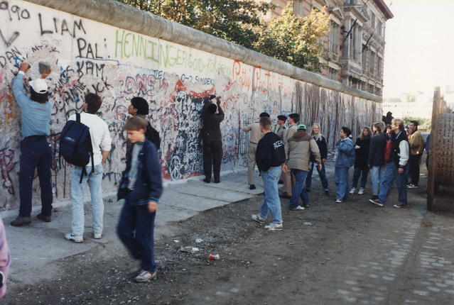 Berlin Wall 1990. (Photo was taken from the east side!)