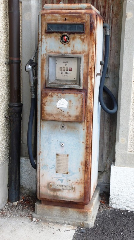 Petrol pump in Langendorf