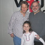 Steve Forbert and daughter at WFUV with Darren DeVivo