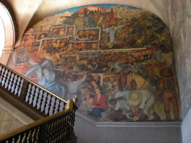 Palacio nacional mexico city historia de m xico de la for Diego rivera la conquista mural