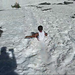 Miles Slides in the Snow
