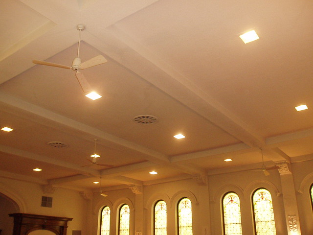 Four out of five church ceiling fans | Flickr - Photo Sharing!