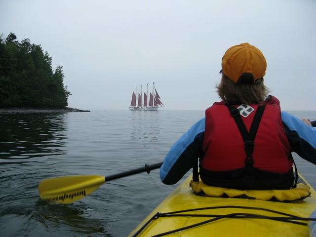 Margaret Todd & kayak.