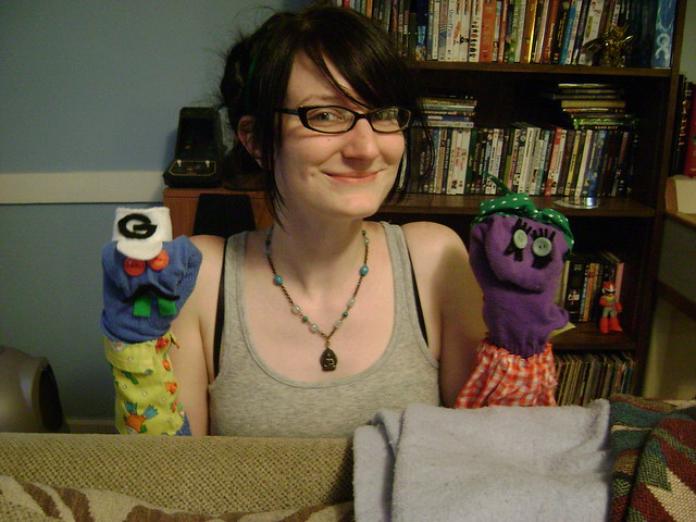 Me & my sock puppets