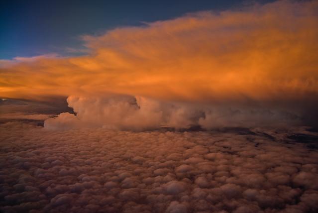 Cumulonimbus at Sunset, 30,000 Feet