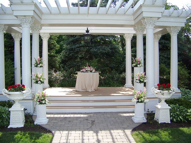 Mansion Backyard Wedding : Outdoor Wedding Ceremony at the Patrick Haley Mansion  Flickr  Photo
