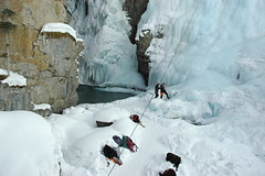 Ice climbing at Jasper National Park