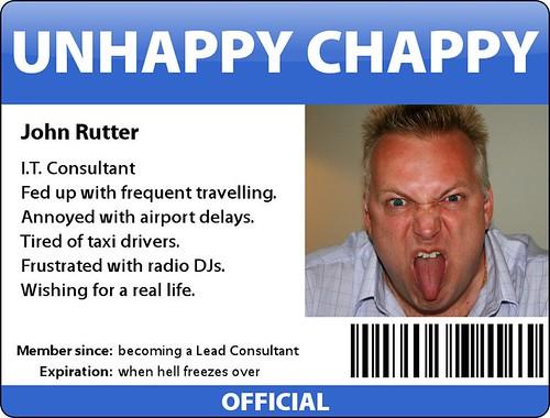 Unhappy Chappy Badge