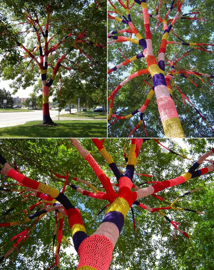 Urban Knitting Graffiti : I ve learned lately urban knitting yarn bombing is