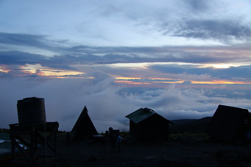 africa sunset sky mountain kilimanjaro silhouette clouds trek canon tanzania horombo 50d