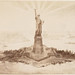 [Photograph of a drawing of the Statue of Liberty in Upper N...