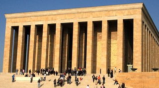 The Anit Kabir, the monumental mausoleum to Mustafa Kamel Ataturk in Ankara, Turkey