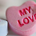 Love conversation hearts candy