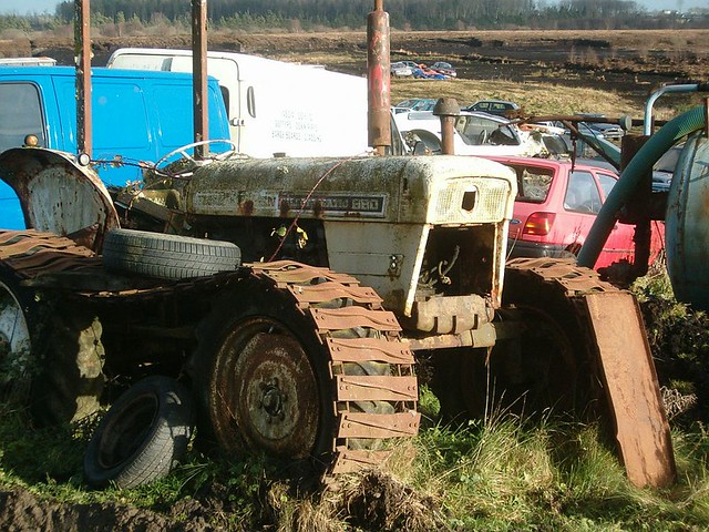 Old Tractor With Tracks : Old david brown selectamatic tractor on tracks a photo