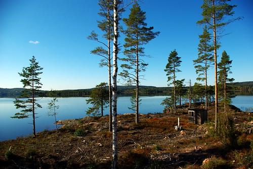 railroad sky tree water museum train pentax sweden värmland svanskog k200d jååj