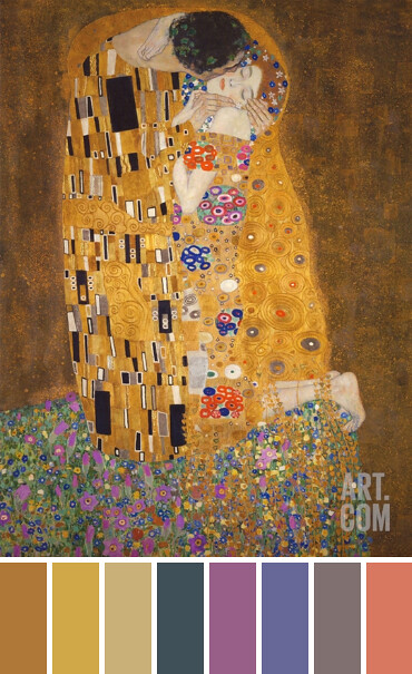 The Kiss by Klimt | Color Palette 2