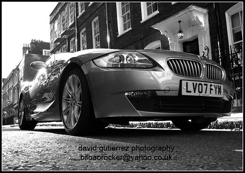 London Car in Black & White B/W Dream Car