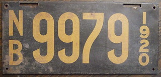 NEW BRUNSWICK 1920 license plate