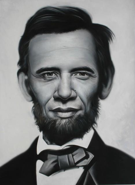 Abraham Obama by Ron English