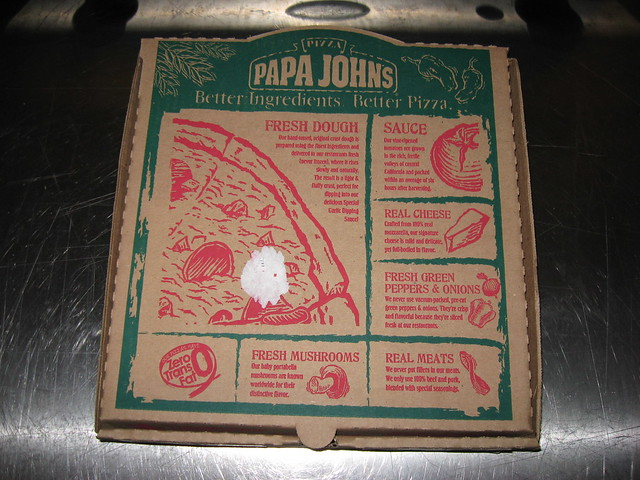 Papa John's: Hawaiian BBQ chicken pizza box | Flickr ... Papa Johns Pizza Box Opened