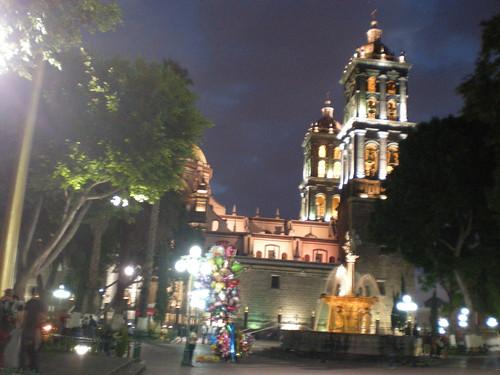 Puebla: Cathedral from Plaza Principal