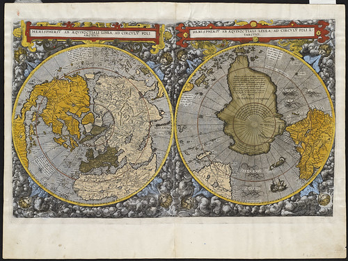 Hemispheriu[m] ab aequinoctiali linea, ad circulu[m] Poli Arctici