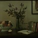 Still-life with fruit bowl, flowers and books by George Eastman House