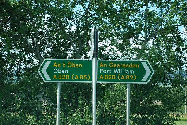 Oban & Fort William Road Sign