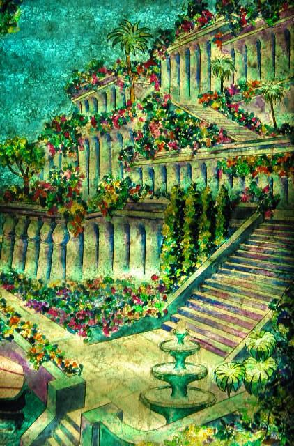 Jardines colgantes de babilonia explore pepe weapons for Los jardines de arbesu