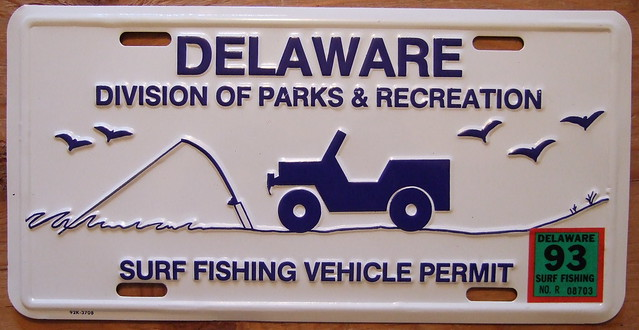 delaware 1993 surf fishing permit flickr photo sharing