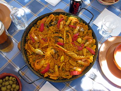 meal, paella, produce, food, dish, cuisine,