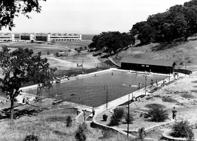Hamilton field ca enlisted swimming pool 9 august 1938 flickr photo sharing for Hamilton swimming pool san francisco