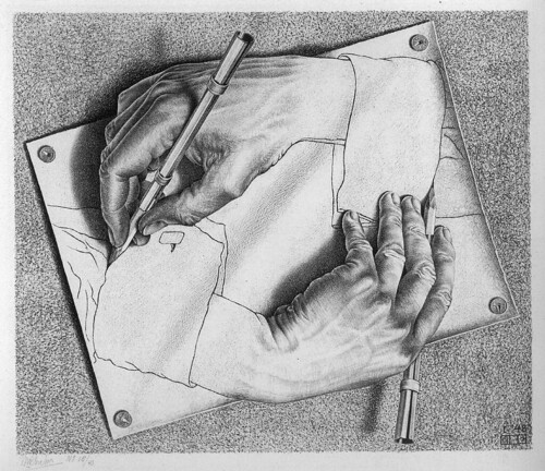 M. C. Escher, Drawing Hands, 1948