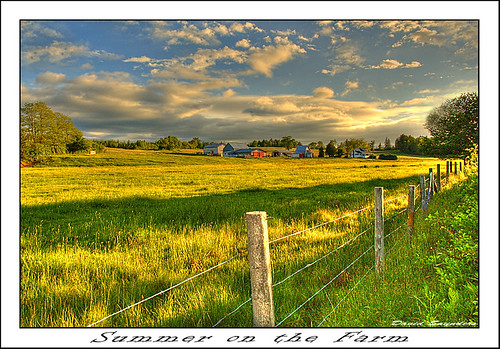 red summer sky sun canada green field grass sunshine clouds barn fence nikon novascotia d70 ns farm meadow hay hdr hdrfromasingleraw upperrawdon